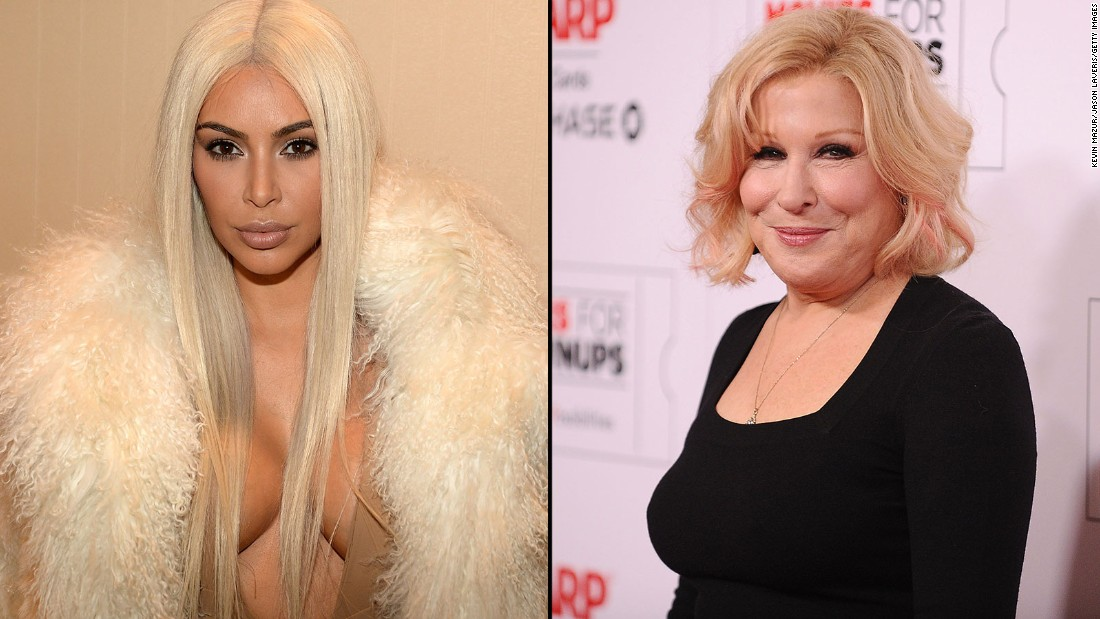 "Reality star Kim Kardashian didn't take too kindly to Bette Midler criticizing her for posting a nude selfie on Monday, March 7. Midler tweeted, ""If Kim wants us to see a part of her we've never seen, she's gonna have to swallow the camera,"" and Kardashian responded by accusing the actress of trying to be a ""fake friend."""