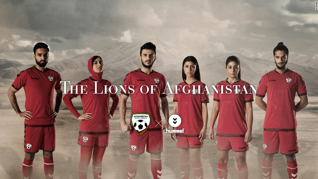 The Afghanistan national football team has unveiled images of its new jersey, with the women's version including a hijab. It was revealed to the public on International Women's Day.