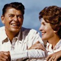 07  Ronald and Nancy Reagan at home RESTRICTED