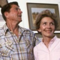 08 Ronald and Nancy Reagan at home RESTRICTED
