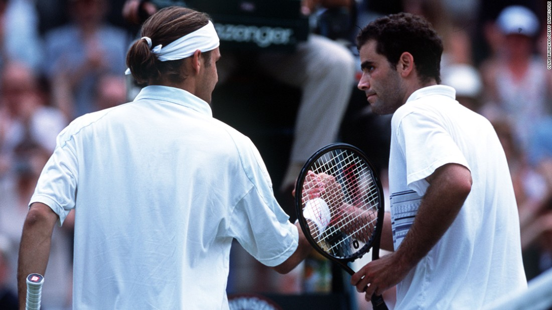 Sampras and Federer met just once in competition, at Wimbledon in 2001. The Swiss knocked the defending champion out in the fourth round at the All England Club.