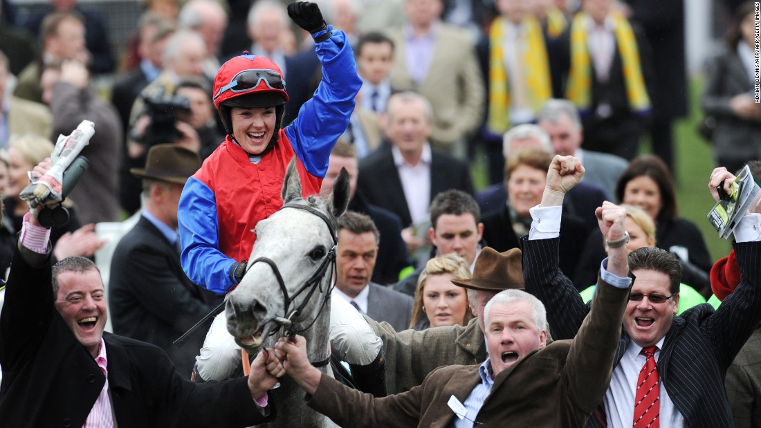 Her career wins include one on Thousand Stars on the final day of the 2010 Cheltenham Festival.