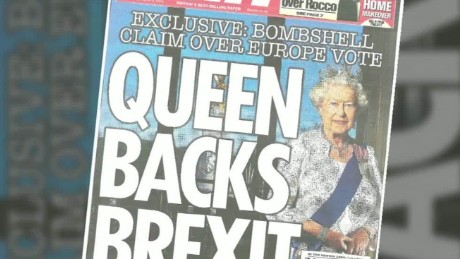The contentious Brexit issue has even reached the Queen