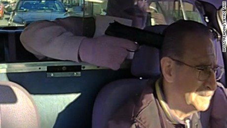 Robber holds taxi driver at gunpoint but then ...