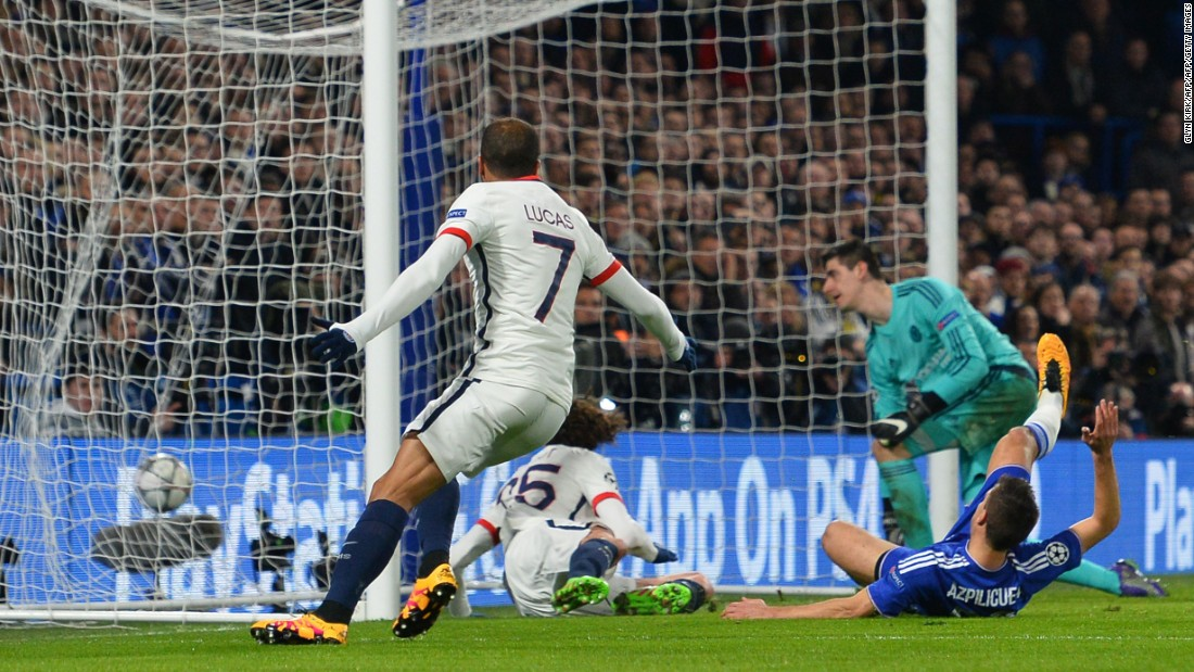 The French champion took the lead on the night through Adrien Rabiot with the young midfielder firing home at the far post after neat work by Ibrahimovic.