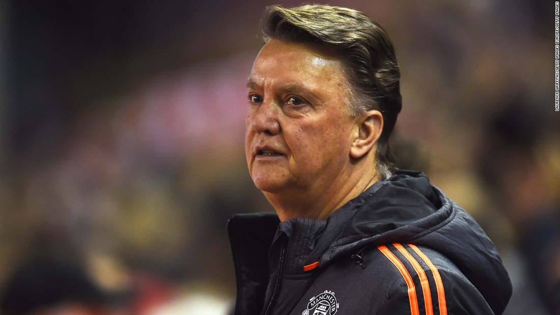 Louis van Gaal, by contrast, had little to be cheery about. Manchester United did not muster a single shot on target in the first half.