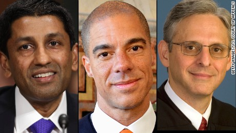 The possible leading choices for the Supreme Court nomination are all federal appellate court judges: (from left) Sri Srinivasan, Paul Watford and Merrick Garland.