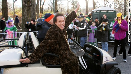Richard Simmons participates in the Macy's Thanksgiving Day Parade in New York in 2013.