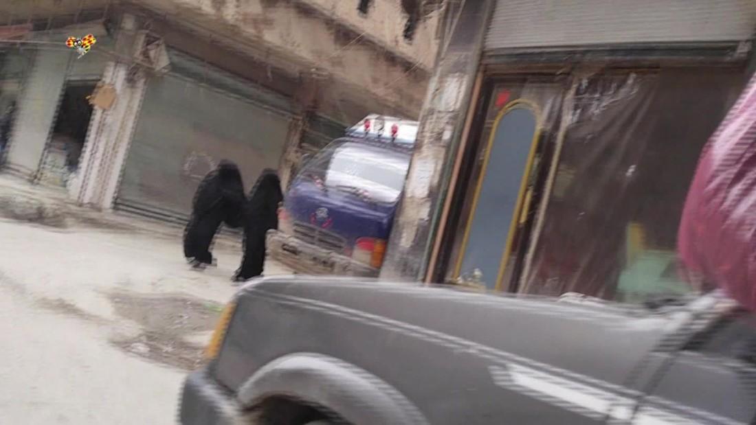 Women secretly film inside ISIS stronghold