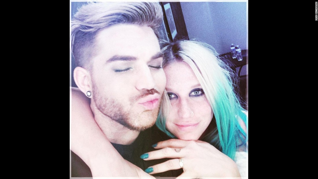 """Caught up w KESHA last night backstage after my show in Nashville,"" <a href=""https://www.instagram.com/p/BC0dmdUONJ2/?hl=en"" target=""_blank"">singer Adam Lambert said on Instagram</a> on Friday, March 11. ""I missed u darlin!"""