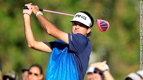 Bubba Watson wields his pink driver to devastating effect.