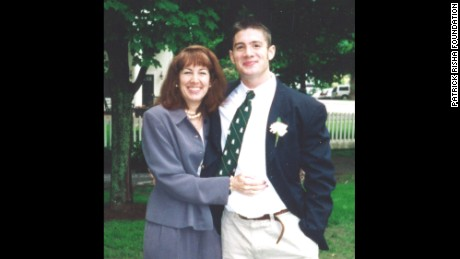 Patrick Risha poses with his mother, Karen Zegel.