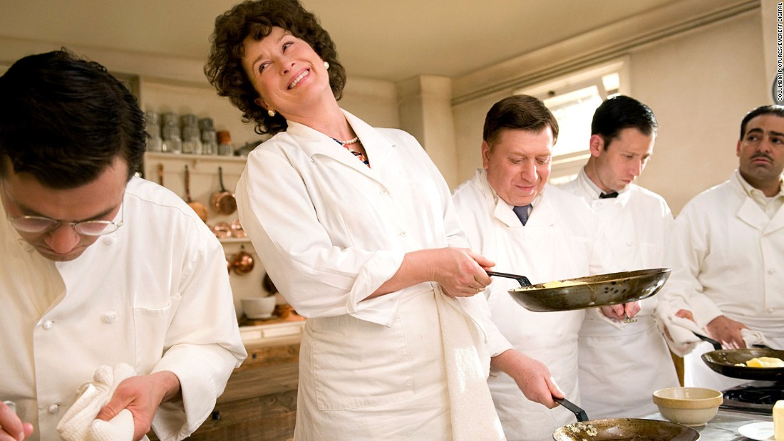 "<strong>""Julie & Julia"" (2009):</strong> Blogger Julie Powell (played by Amy Adams) attempts to replicate the recipes of Julia Child (Meryl Streep, shown here). Here are a few other food movies that have had fans drooling."