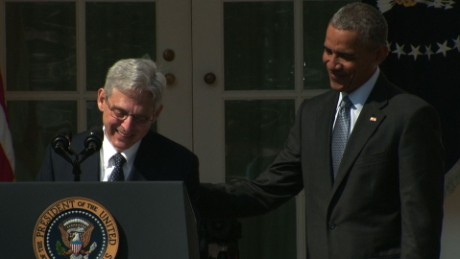 Merrick Garland tears up during nomination