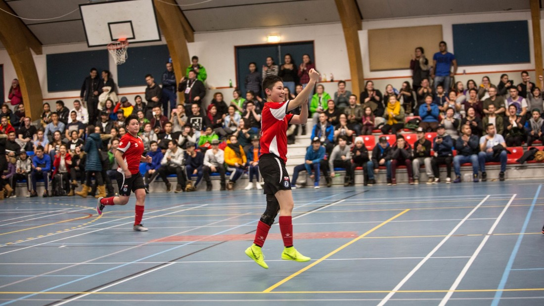 Greenland's futsal players enjoyed boisterous home support -- the 12-year-olds were roared onto the pitch by hundreds of friends, family members and neighbors.
