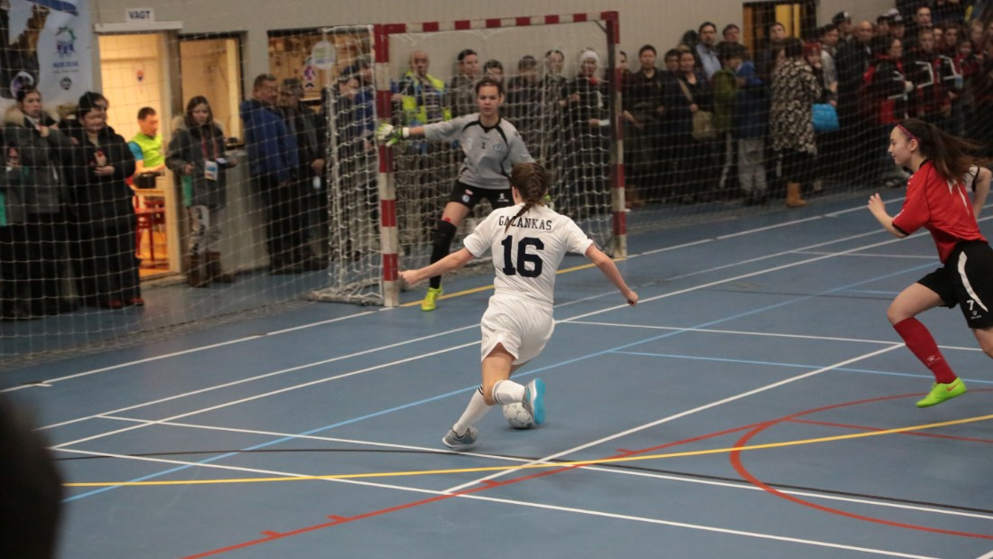Futsal, a modified indoor version of football, was arguably the biggest draw at the 2016 Arctic Winter Games, packing out the 1,000-capacity arena.