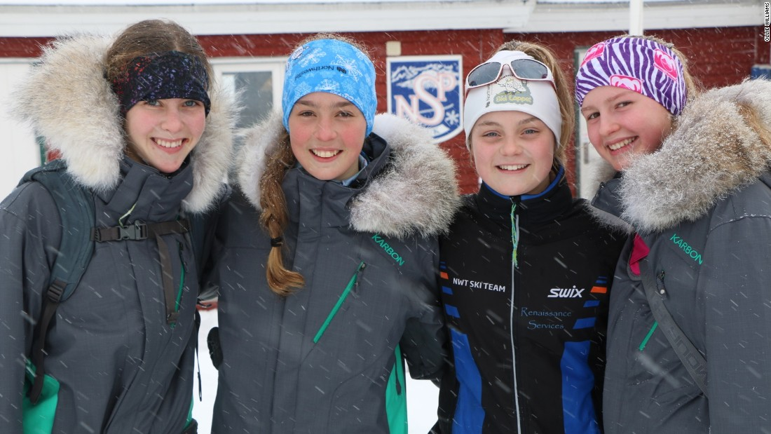 Not all athletes plan to set records at the Arctic Winter Games, which also features more conventional sports such as table tennis, volleyball and ice hockey. It's a first taste of a mini-Olympics for young teenagers -- such as these skiers -- who harbor sporting ambitions.
