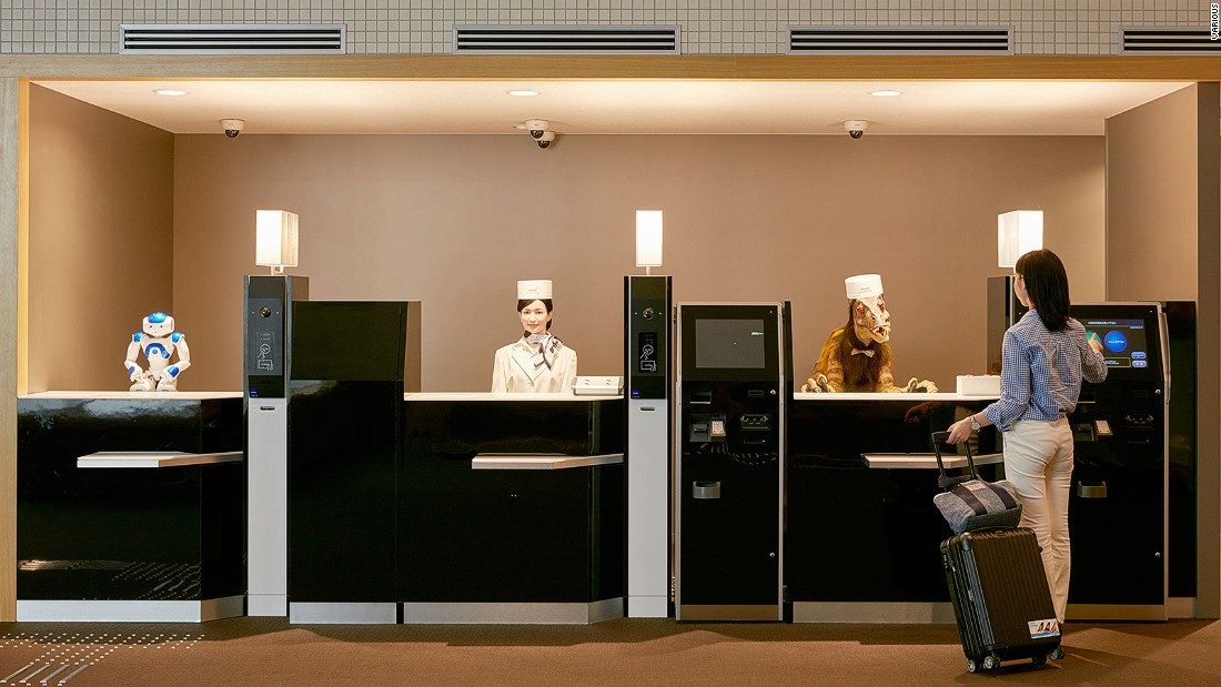 Robot hotel workers are already a reality. The Henn-na Hotel in Sasebo, Japan opened in 2015.