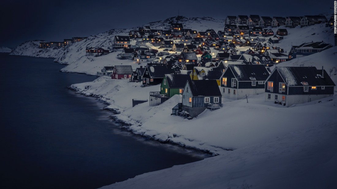 Nuuk is Greenland's biggest town, with a population of 17,000. The community nestles into the rockface of Greenland's southwest coast.