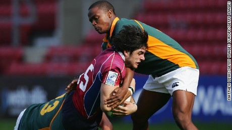 Ebner in action against South Africa at the 2008 Junior World Cup.