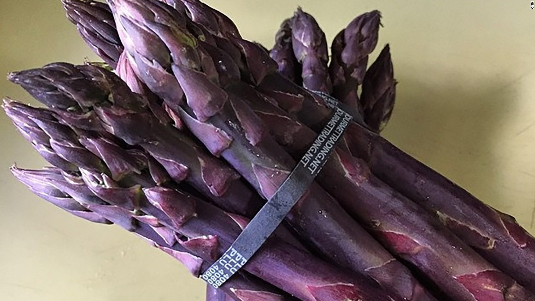 While it tastes the same as the white and green varieties, purple asparagus is rich in antioxidants.