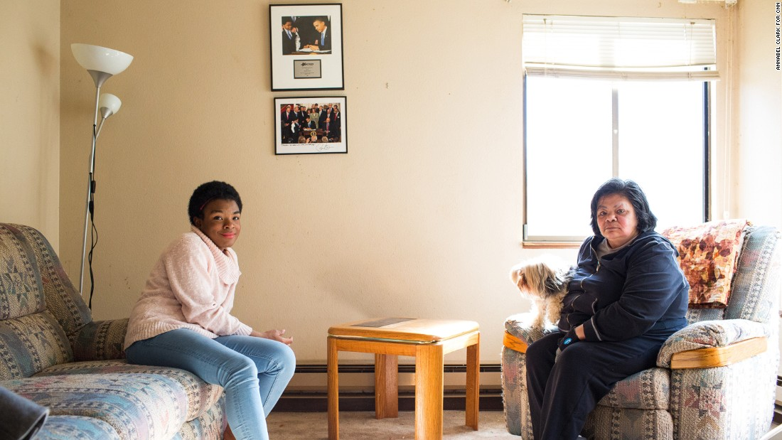 Marcelas and her grandmother, Gina Owens, at their home in Seattle. Marcelas says her grandmother's acceptance was a blessing.