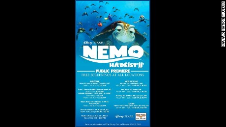 "A poster for the Navajo translation of ""Finding Nemo,"" which debuts in select theaters Friday."