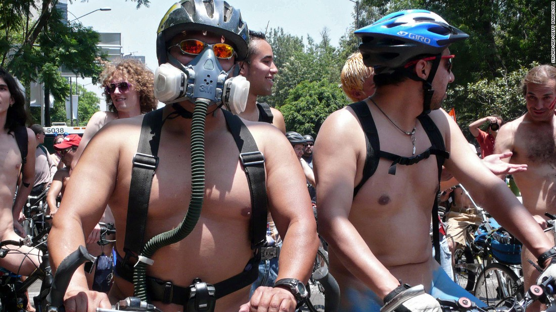 Campaigns for safety and cleaner streets are often convened -- like this naked ride in June 2009.