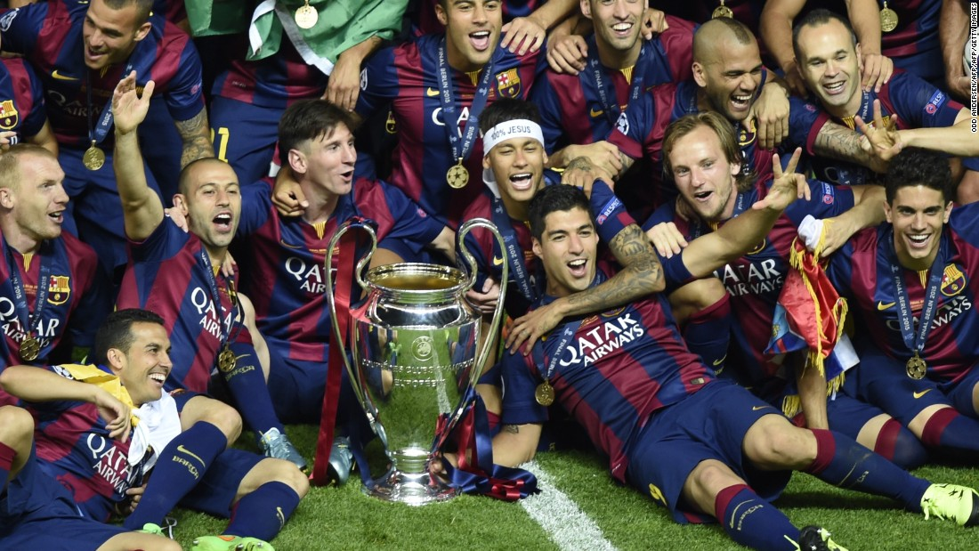 Barcelona is bidding to become the first team to repeat in the Champions League era and will face ...