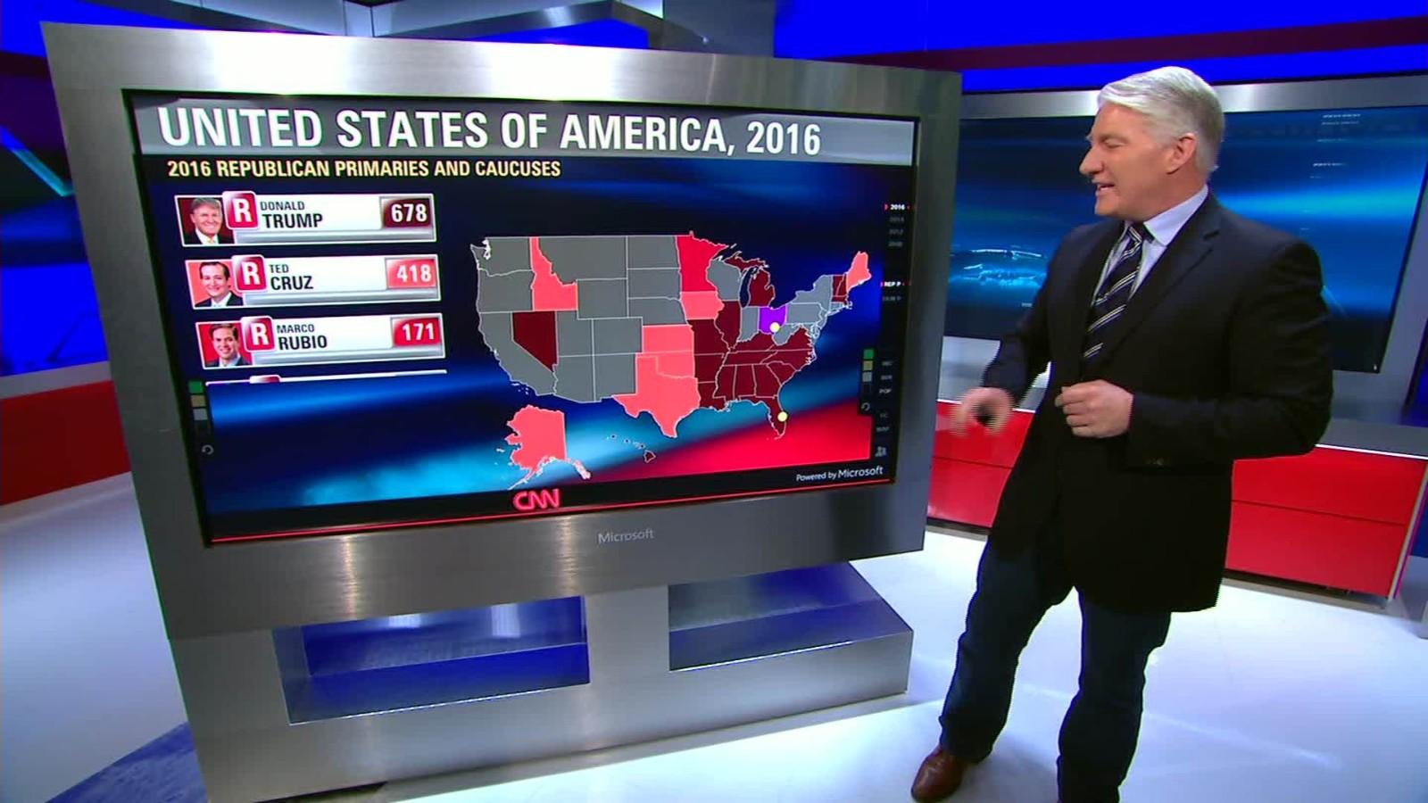 What A Clinton Vs Trump Match Up Would Look Like CNN Video - Trump vs clinton us map
