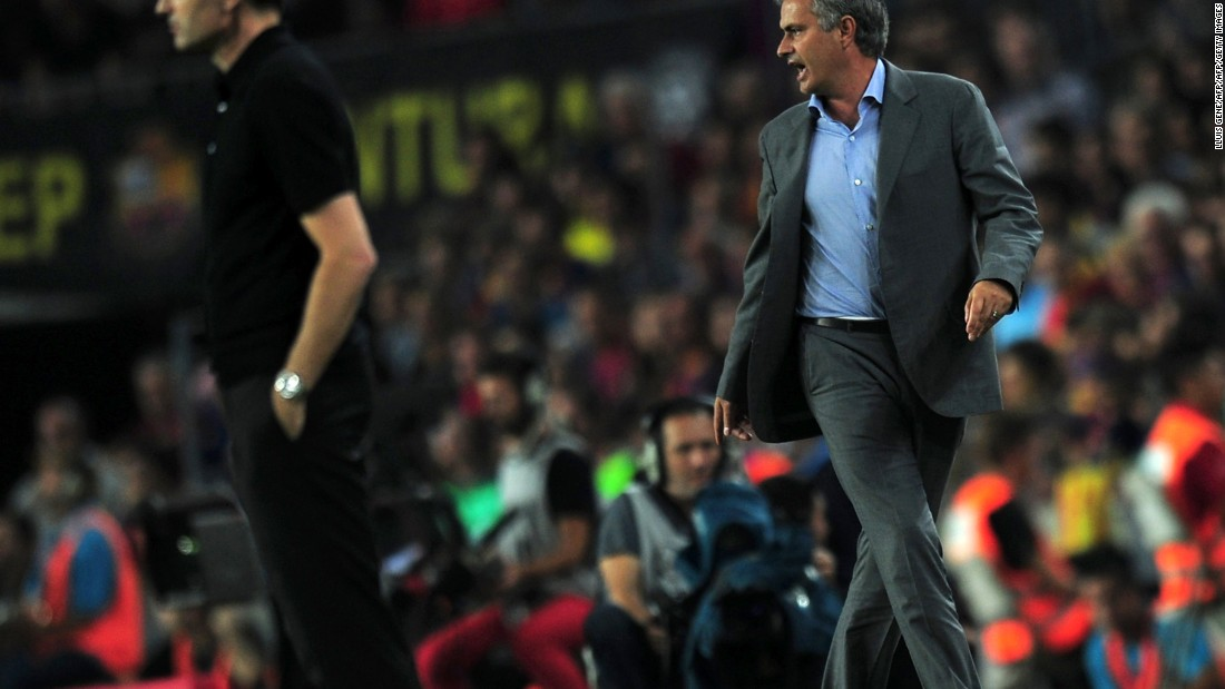 Mourinho crossed what many considered to be a line in a Spanish Super Cup match in 2011 when he poked Guardiola's then assistant manager, Tito Vilanova, in the eye during a pitchside scuffle.