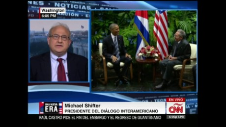 exp cnne michael shifter on obama cuba_00002001