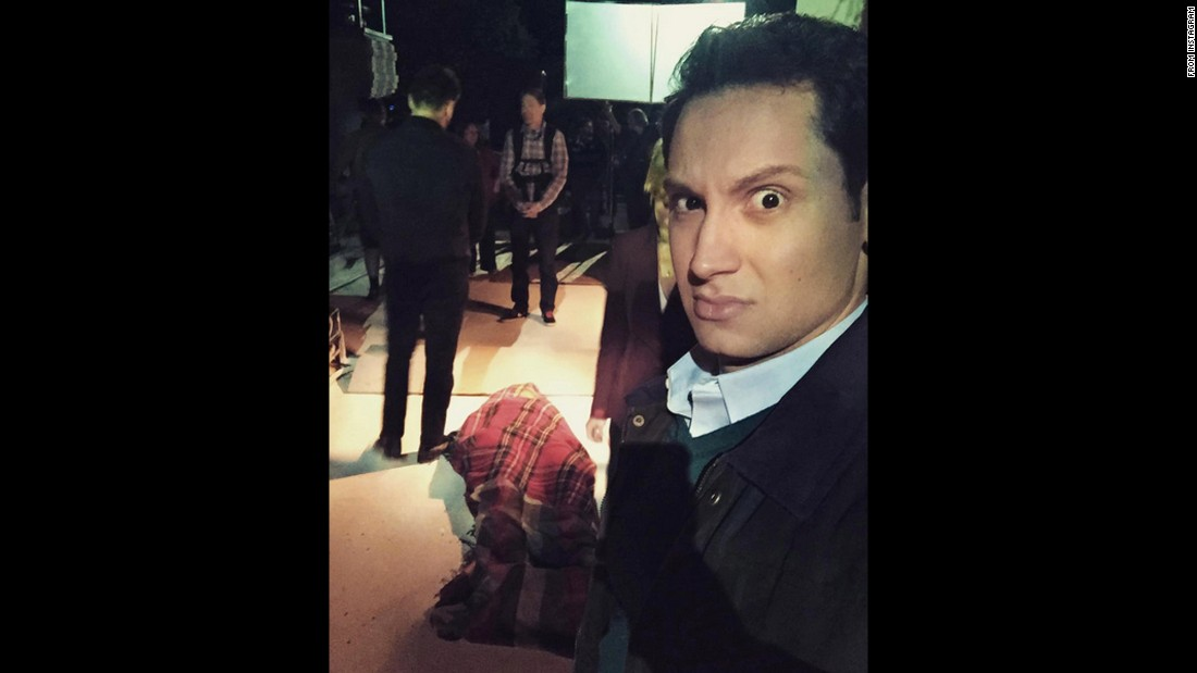 "Actor Matt McGorry <a href=""https://www.instagram.com/p/BDBtQtDO4I_/?hl=en"" target=""_blank"">takes a selfie</a> on the set of ""How to Get Away With Murder"" on Wednesday, March 16."