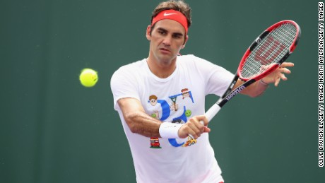 Roger Federer is a targeting a return to action at the Italian Open.