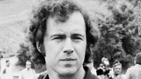 JUNE 22:  Portrait taken 22 June 1974 of defender Franz Beckenbauer who played for the German national soccer team.  (Photo credit should read STAFF/AFP/Getty Images)