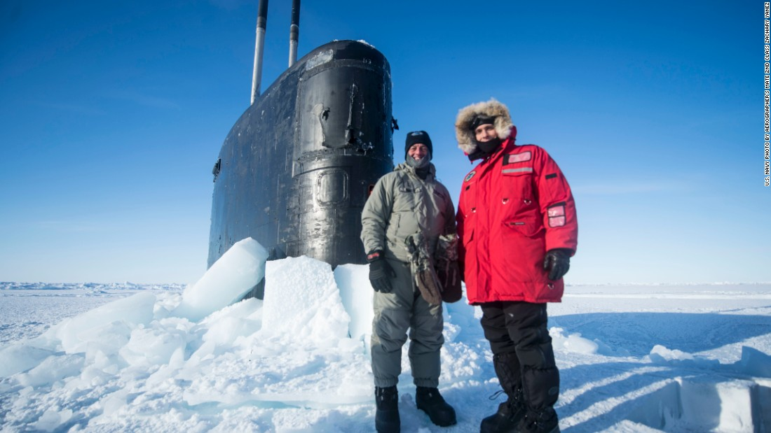 See Navy sub bust through Arctic ice