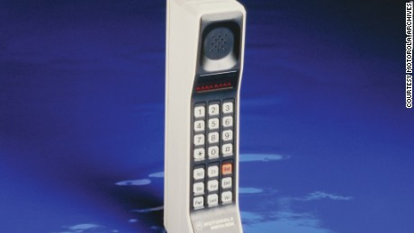 Motorola debuted the DynaTAC 8000X in 1983, the first portable cellular phone for consumer use. Better known as the phone that Gordon Gekko carried (lugged?) around in the 1987 movie Wall Street, the DynaTAC weighed 1 lb., 12 oz.