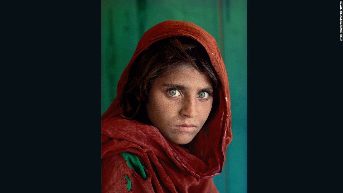 "<strong>'Afghan Girl':</strong> This haunting image of 12-year-old Sharbat Gula -- a Pashtun orphan in a refugee camp on the Afghan-Pakistani border -- appeared on the June 1985 cover of National Geographic. The photo, taken by renowned photographer Steve McCurry, is considered<a href=""http://www.cnn.com/2015/03/23/world/steve-mccurry-afghan-girl-photo/""> the magazine's most successful cover photo</a> in its distinguished history."