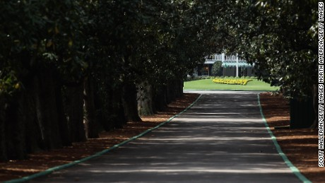 Magnolia Lane leads from Washington Road to the Augusta National clubhouse.