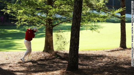 Westwood also found the pine straw on the 13th in 2010 but took a safety-first approach.