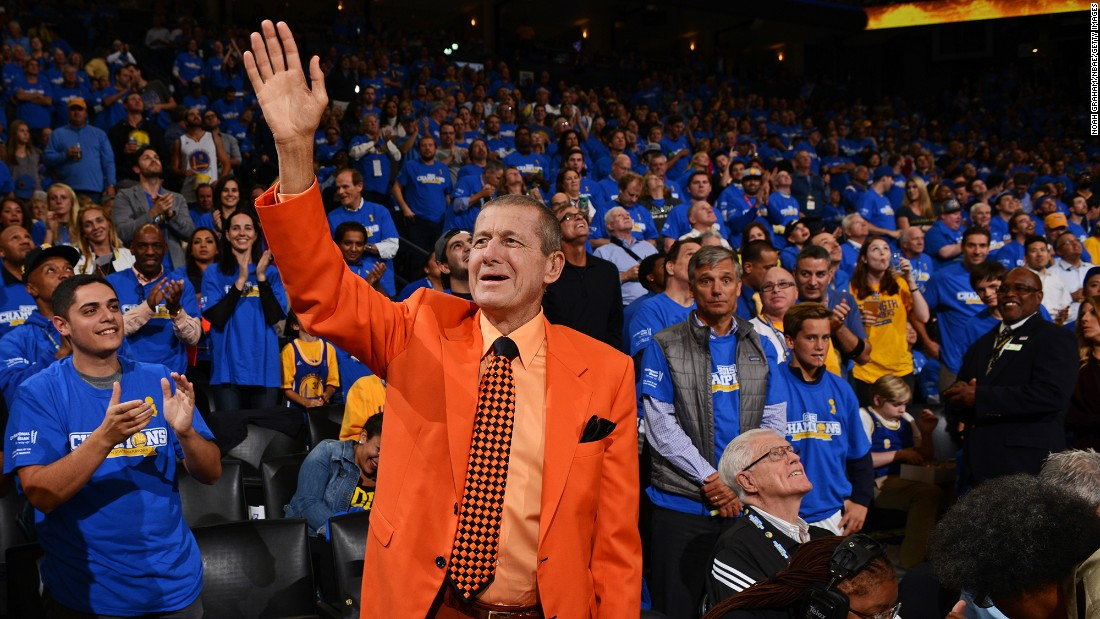 "<a href=""http://www.cnn.com/2016/12/15/us/craig-sager-dies/index.html"" target=""_blank"">Craig Sager</a>, the longtime Turner Sports sideline reporter best known for his colorful -- and at times fluorescent -- wardrobe, passed away December 15 of last year after battling acute myeloid leukemia, the network said. Here, Sager waves to the crowd before an NBA basketball game in October 2015."