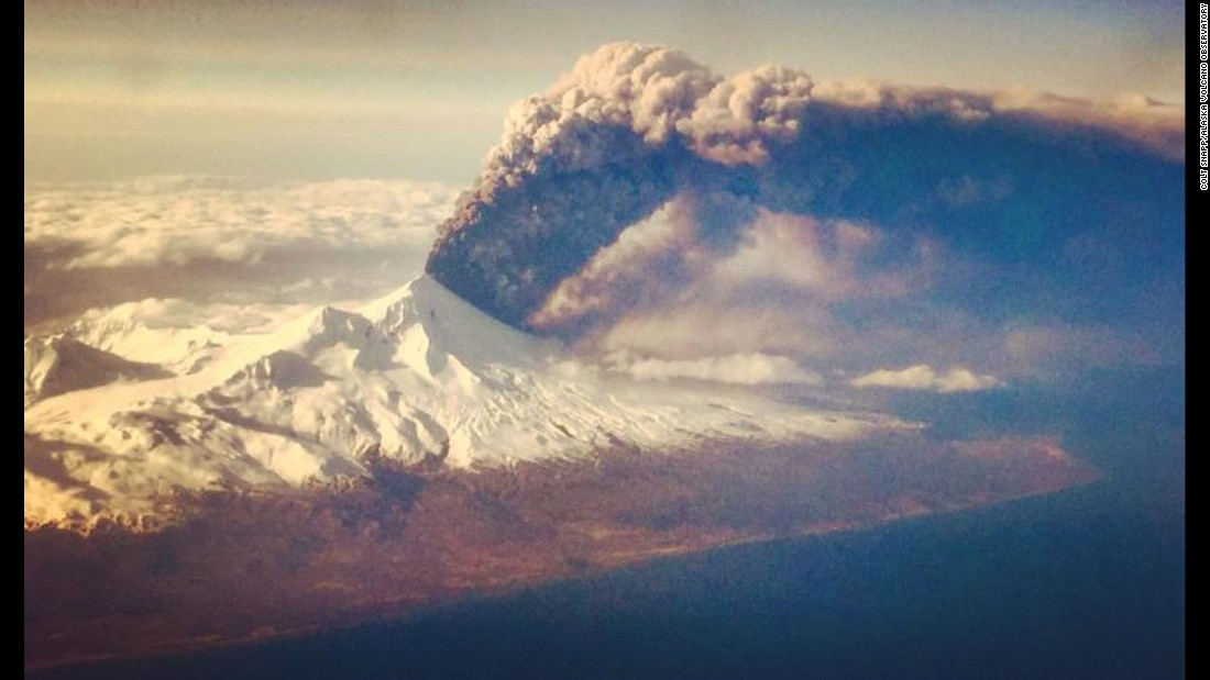 The Pavlof volcano erupts on Alaska's remote Aleutian Island archipelago in March 2016