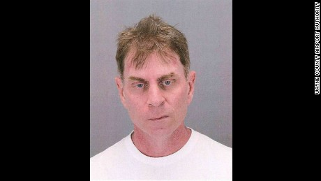 Booking photo of John Maguire, co-pilot for American Airlines.