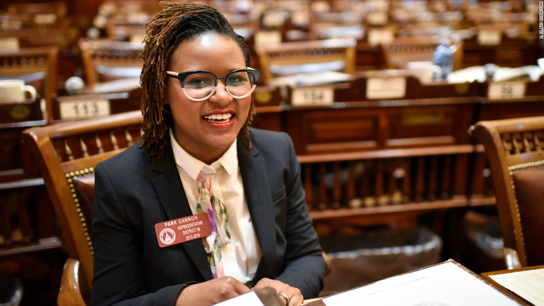 Rep. Park Cannon is the youngest Georgia lawmaker at age 24. She's still settling into the job after being elected in a runoff in February.