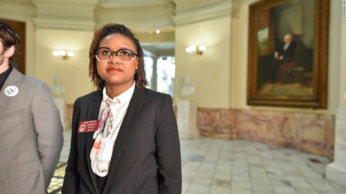 Cannon hopes to someday see more diversity among the portraits of Georgia's influential political leaders that adorn the rotunda of the Georgia Capitol.