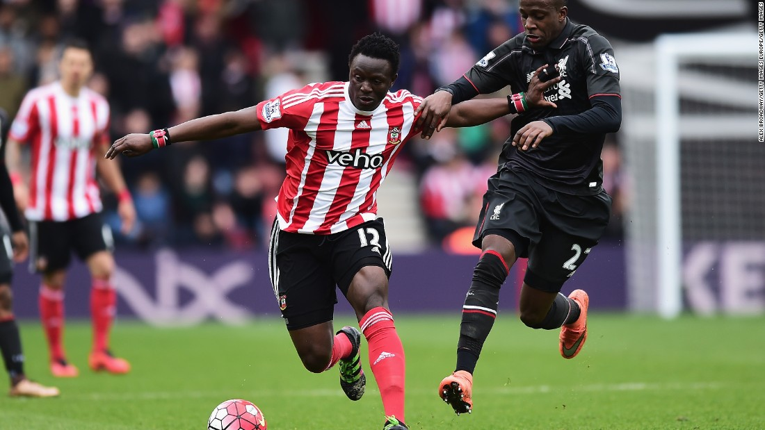 The first Kenyan to play in the Premier League, the midfield enforcer is a mainstay of Ronald Koeman's exciting Southampton team.