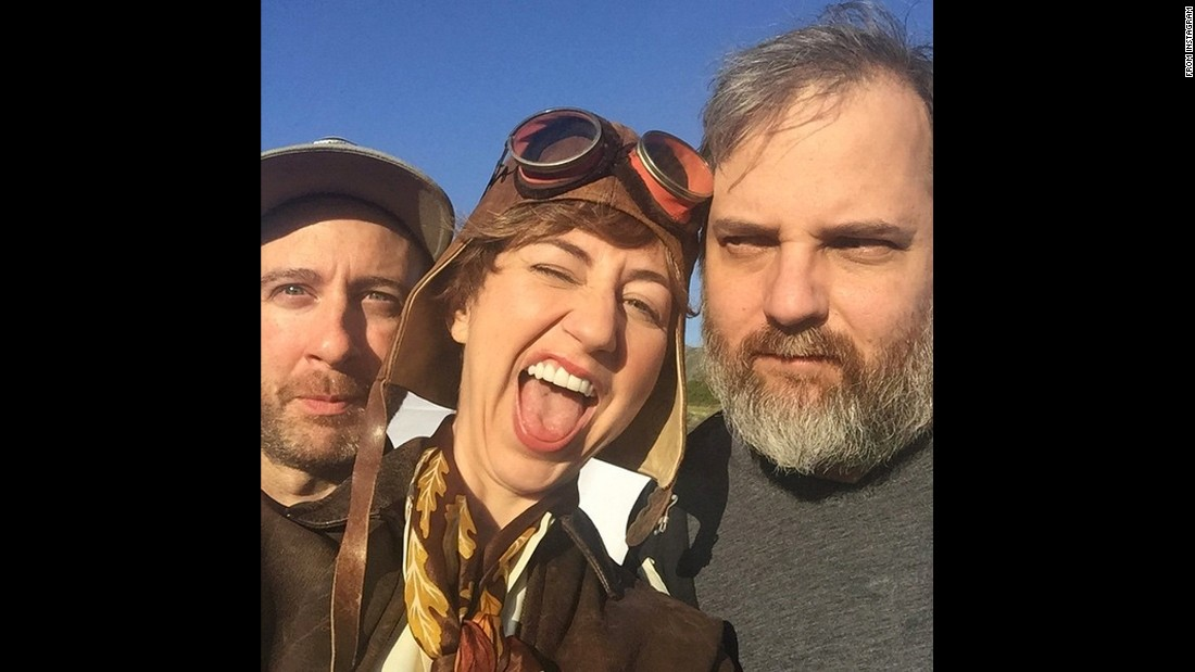 "Comedian Kristen Schaal is playing Amelia Earhart in a future episode of ""Great Minds with Dan Harmon."" Here, <a href=""https://www.instagram.com/p/BDcEpFgDhIl/"" target=""_blank"">she poses</a> with Harmon, right, and director Heath Cullens on Saturday, March 26."