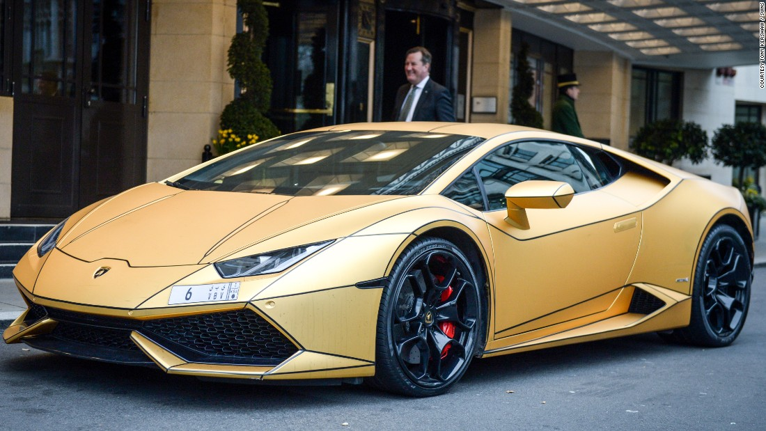 Super Rich Saudi S Gold Cars Hit London Cnn Style