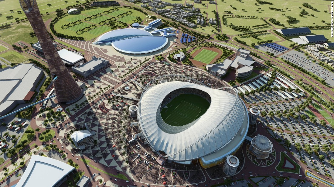 "The Khalifa International Stadium ""will fit 40,000 spectators and be completely cooled, including the field of play, all seats and concourses,"" soccer's world governing body FIFA said in September 2015. But what's the human cost of this World Cup venue's construction?"