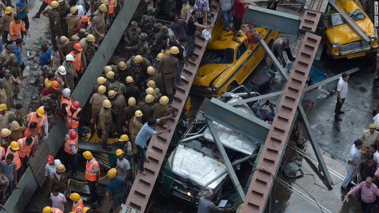 Kolkata Overpass Collapse Kills 24; Rescuers Dig For